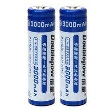 Bateria de Alta Recarregável com 1200 2 Pçs e set Doublepow Lsd Capacidade 3000 Mah 3.7 V 18650 Li-ion Ciclo