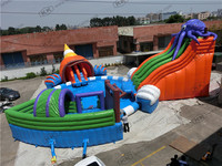 Giant Inflatable Octopus Water Slide Pool Park / giant inflatable water park