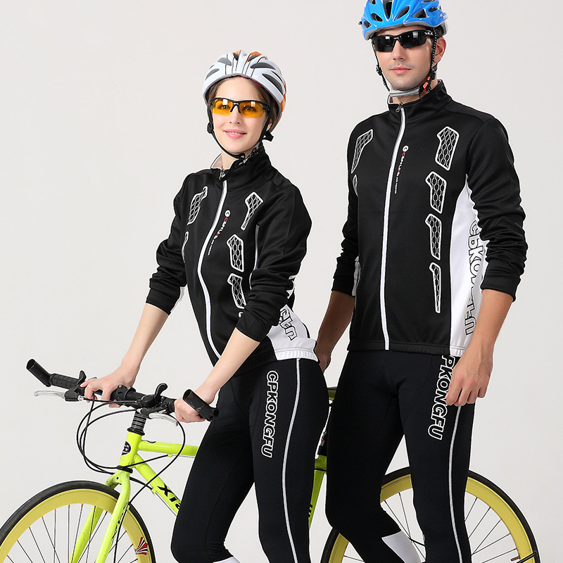 DICHSKI Spring and Autumn Cycling clothing Long Sleeve Cycling Sets Men and Women cycling jersey 2017 pro team Jacket and pants