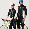 Spring and Autumn Cycling clothing Long Sleeve Cycling Sets Men and Women cycling jersey 2017 pro team Jacket and pants H219
