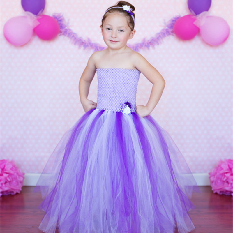 Purple Lavender Girls Dress Casual Sleeveless Floral Baby Girls Ball Gown for Birthday Party Toddler Baby Tutu Dresses international business theory and international economy