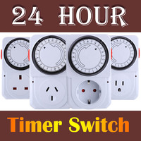 3 Styles 24 Hours Electrical Energy Saving Programmable Timer Plug Switch Socket US EU UK Plug