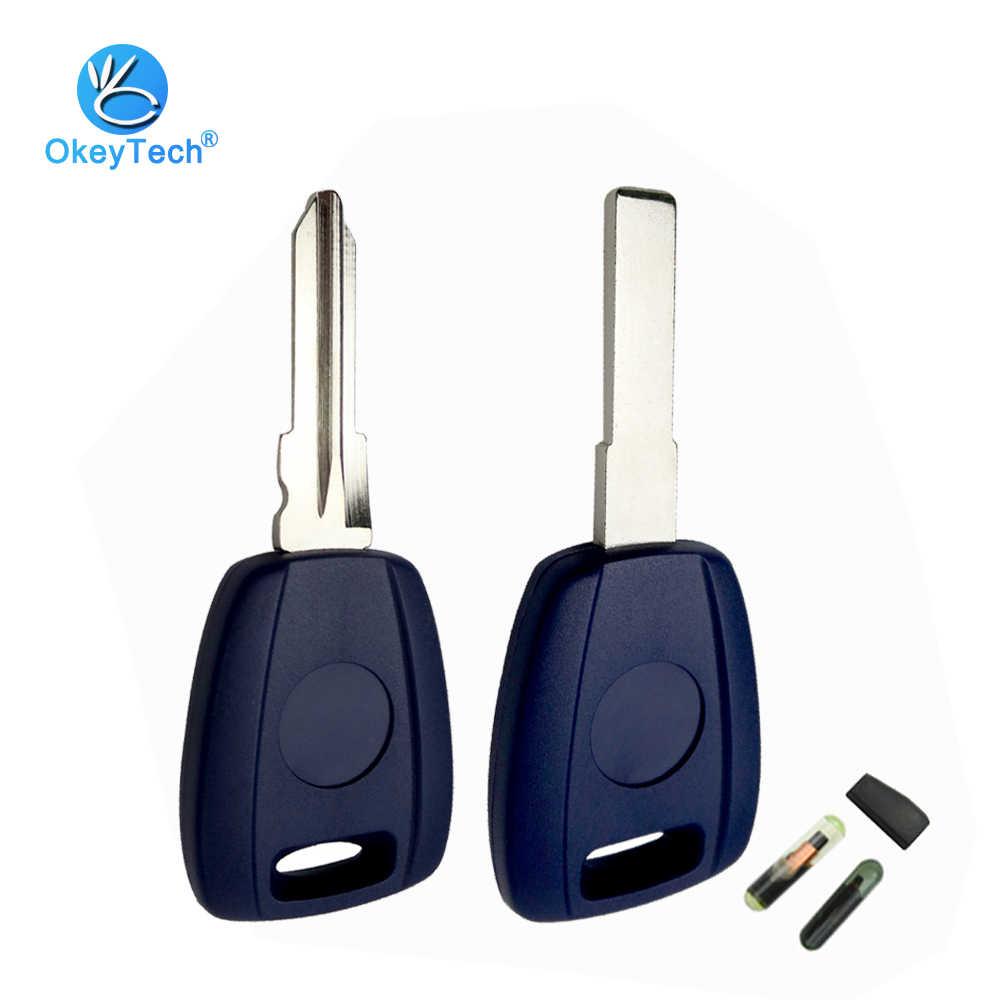 Okeytech Transponder Sleutel Shell Ongecensureerd Blanco SIP22 GT15R Blade Voor Fiat Grande Punto Scudo Panda Bravo Doblo Stilo & T5 /ID48 Chip