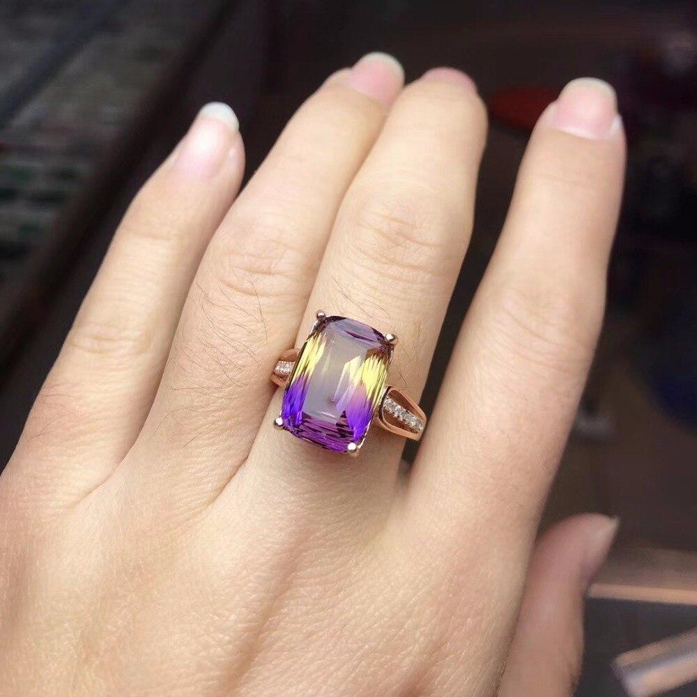 HTB1jQGya0fvK1RjSspoq6zfNpXau - Uloveido Square Purple Amethyst Rose Gold 925 Sterling Silver Promise Ring
