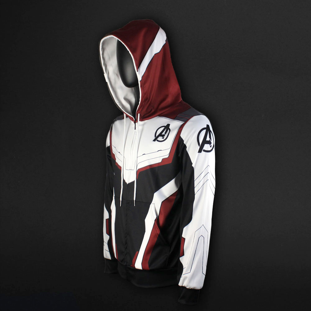 Men Women Avengers Endgame Realm Cosplay Hoodies 3D Pullover Sweatshirt Quantum Realm Superhero Zipper Jacket Costumes