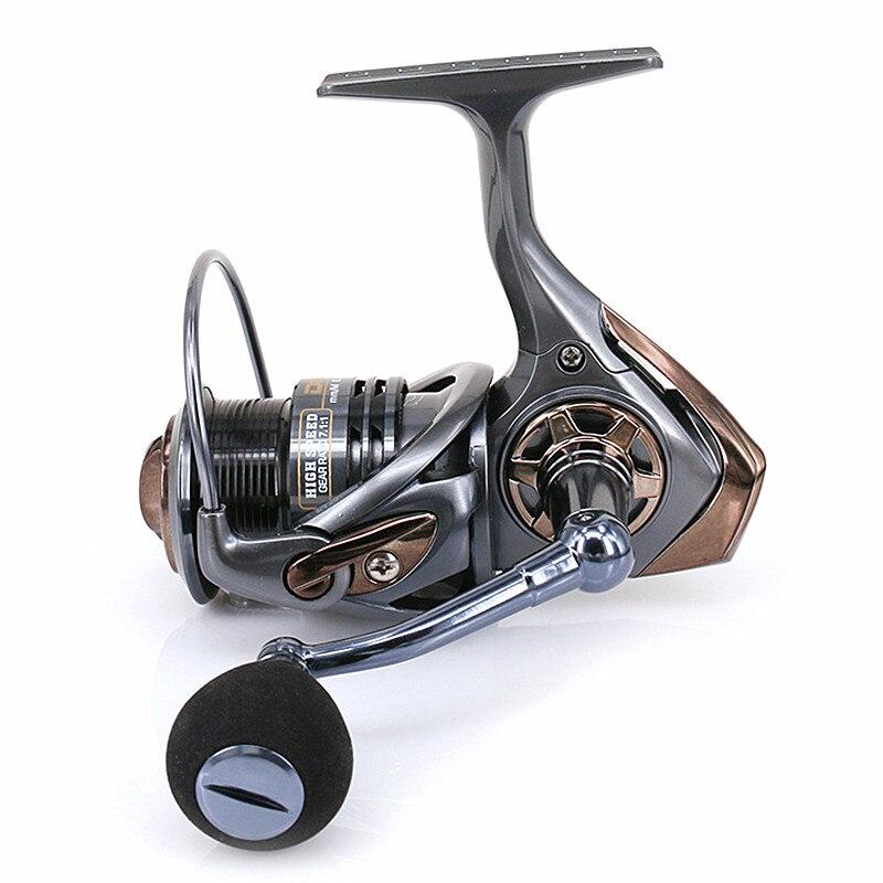 KKWEZVA Metal Shallow Cup 2000H 3000H Spinning Fishing Reel 7.1:1 Hi-Speed Full Metal Spinning Wheel + Metal Rocker And EVA Hold