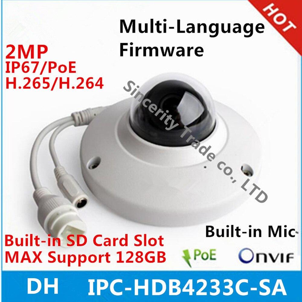 original DH IPC HDB4233C SA replace IPC HDB4231C AS dome camera 2MP IP67 IK10 built in