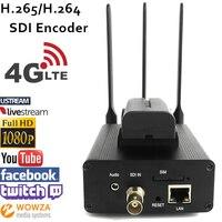 U8Vision H.265 HEVC/H.264 AVC 4 г LTE SDI видео кодер для прямой трансляции поддержка RTMP к Потоковым сервер как Wowza, youtube