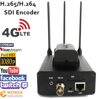 U8Vision H.265 HEVC/H.264 AVC 4G LTE SDI Video Encoder for live Broadcast support RTMP to streaming server like Wowza,Youtube