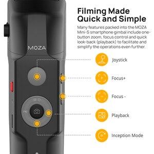 Image 5 - MOZA MINI S 3 stabilizator osi składany kieszonkowy ręczny Gimbal MINI S dla iPhone X xiaomi huawei GoPros postawy polityczne w MINI MI VIMBLE 2