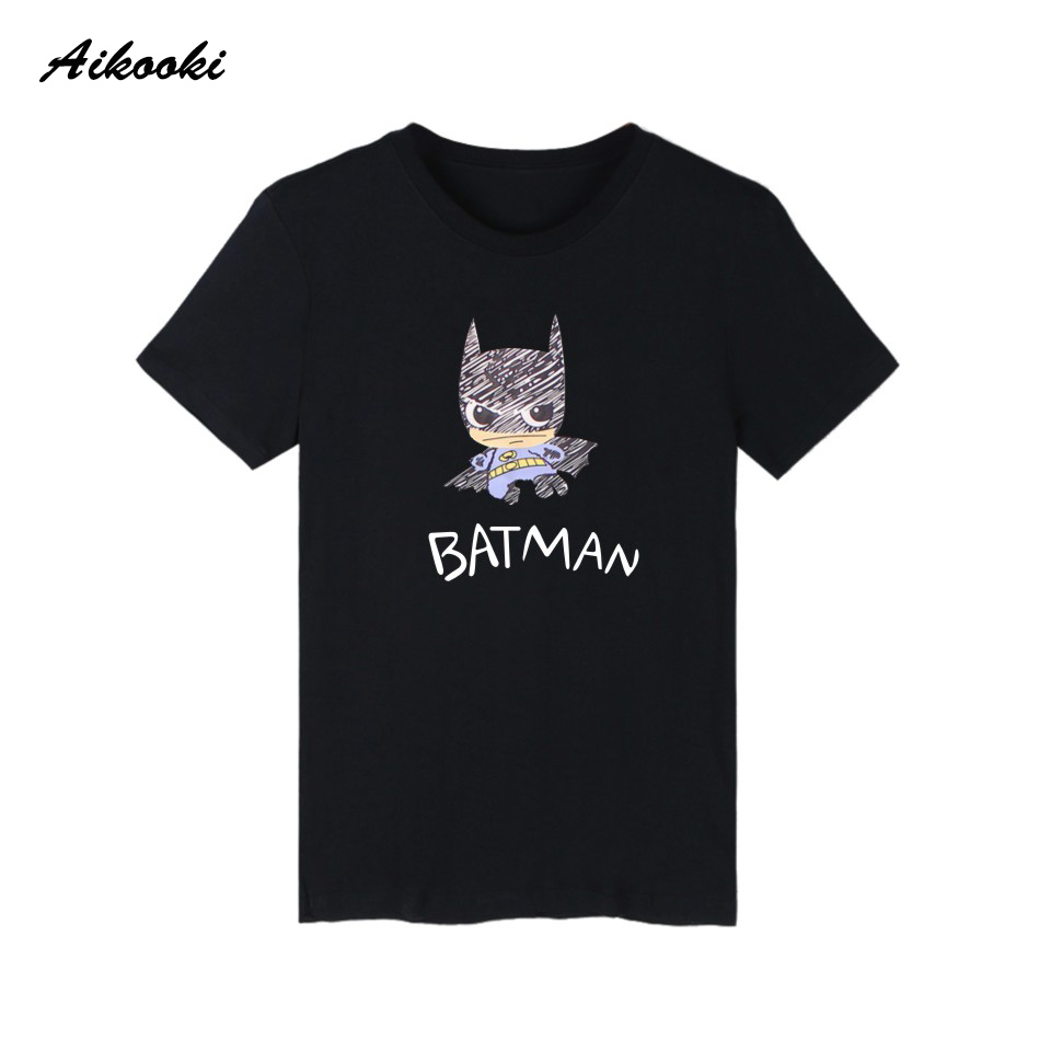 Hot Sale Batman Print Short Sleeve t-shirts Summer Plus Size Cartoon Funny TShirts Creative Novelty Imaginative Simple Beautiful