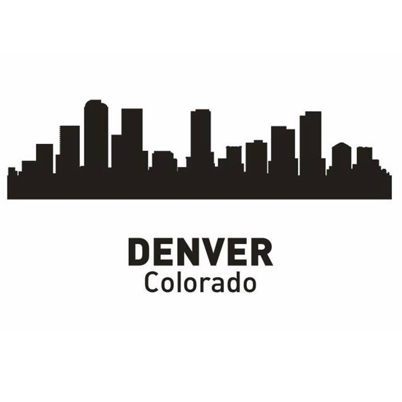 DCTAL DENVER City Decal Landmark Skyline Wall Stickers