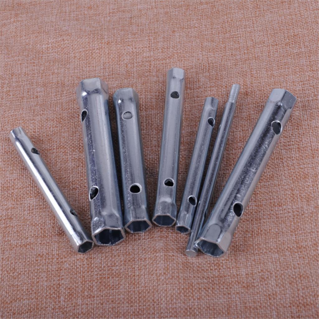 LETAOSK 7pcs Steel 6-17mm Tubular Box Wrench Tube Spanner Metric Socket Set Tool Kit