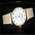 Relojes Mujer Новая Мода Классический Женщины Платье Часы 30 М Водонепроницаемый Полный Нержавеющей Стали Наручные Часы Женские Кварцевые Часы