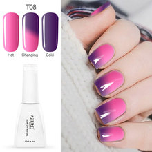 Azure gel for nails soak off temperature gel nail design DIY manicure UV gel nail polish lacquter nai art design color changing