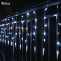 Tail Plug 2M*0.6M Waterproof EU Plug 220v String Light Fairy Icicle LED Curtain Light Festival Christmas Garland Wedding Party