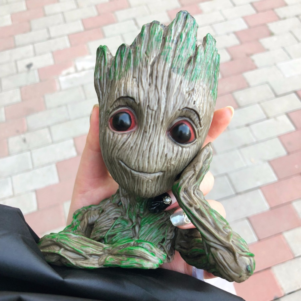 Groot Action Figures Toy Dolls Cosplay Guardians of the Galaxy Tree Man Grootted pen flower pot Home Decoration Toys Props