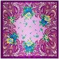 90 cm * 90 cm nuevas flores de marañón bufanda de bohemia bufanda de la señora toalla gran plaza
