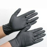 100 unids/set nitrilo desechables negro anti-corrosión pelo belleza látex Guantes mano herramienta Accesorios de estilismo
