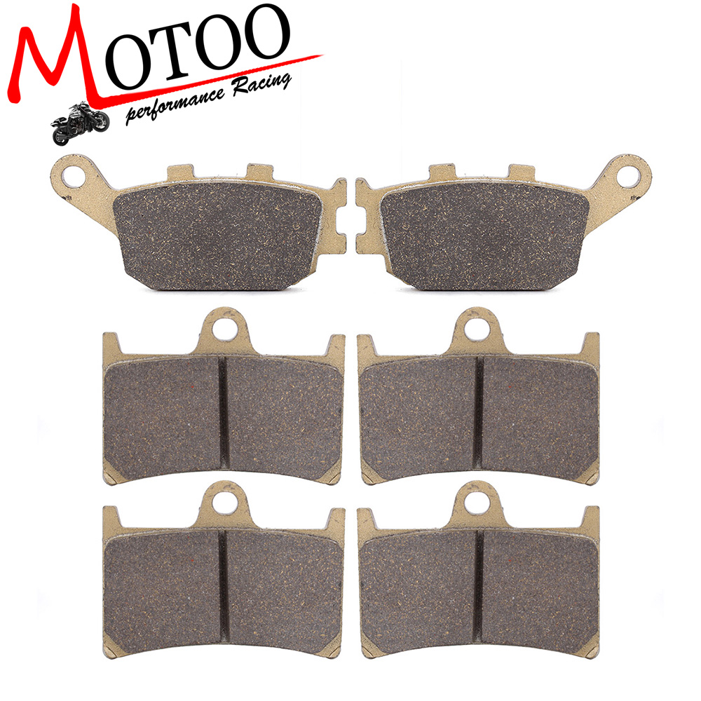 Motoo - Motorcycle Front and Rear Brake Pads For YAMAHA YZF R6 2003-2015 YZF R1 1000 04-06 FZ6 2007-2009 motorcycle part front rear brake disc rotor for yamaha yzf r6 2003 2004 2005 yzfr6 03 04 05 black color