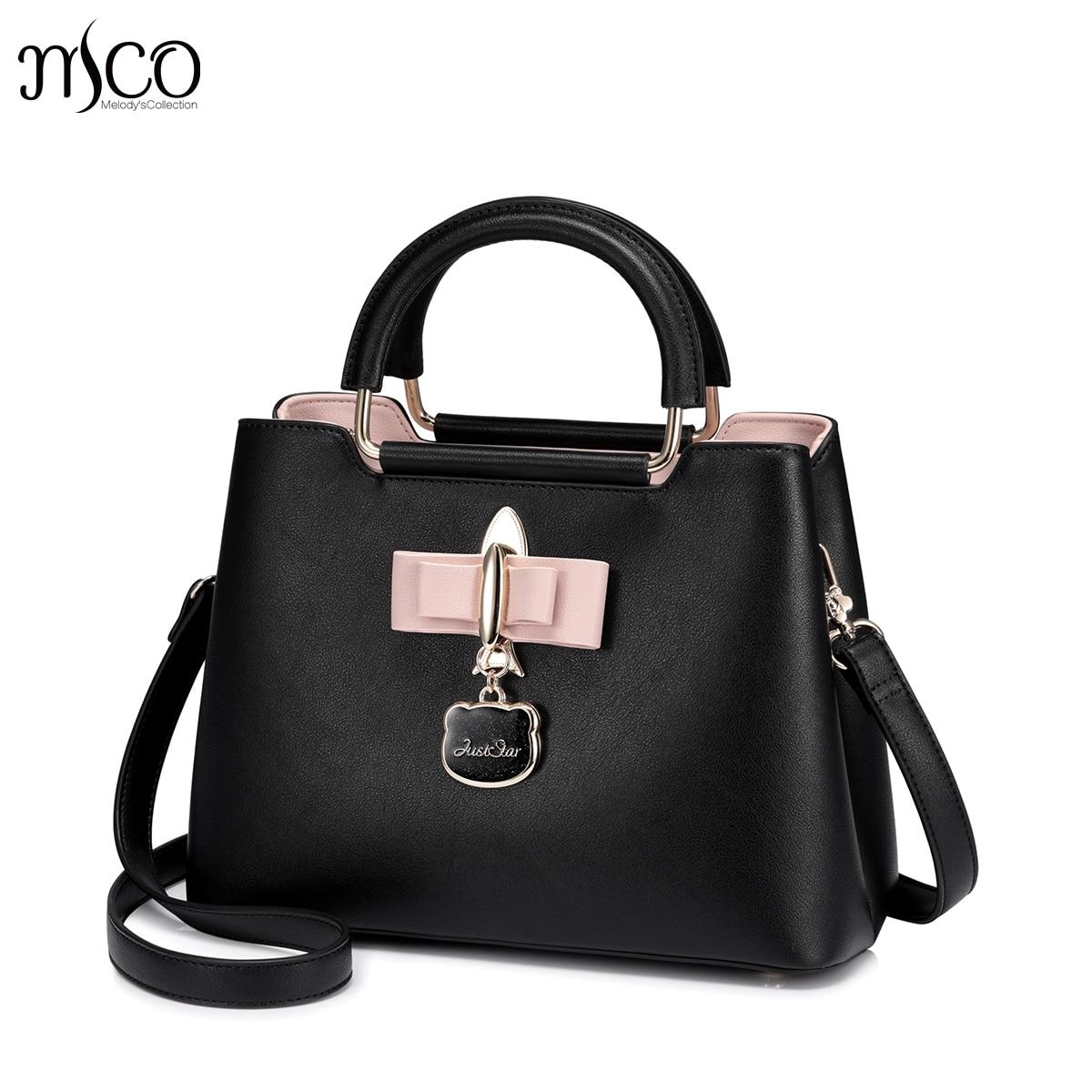 Bagaj ve Çantalar'ten Omuz Çantaları'de Sadece yıldız tasarımcı marka lüks Pembe Yay çanta kadın omuz çantaları ana kesesi femme debriyaj crossbody bir çanta bolsas feminina'da  Grup 1