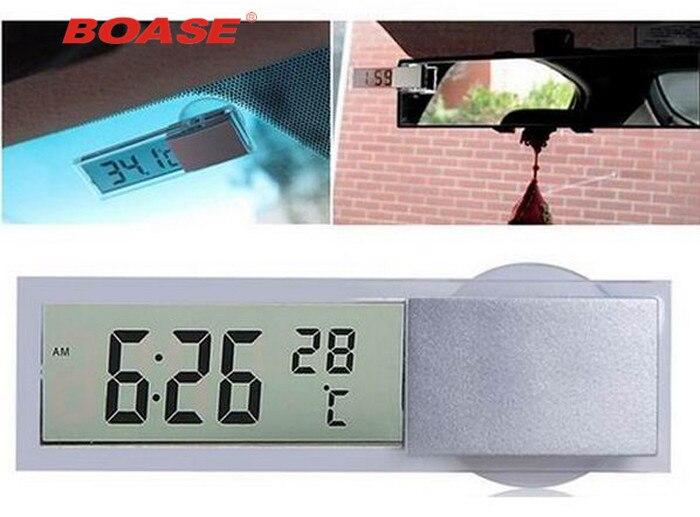 Ny Mini 2 i 1 Digital LCD Car Auto Clock + Termometer Gratis - Bil interiör tillbehör