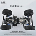 CNC Machined 1/10 Scale Alloy Rc Rock Crawler Metal Gelande II Defender D90 Chassis RC4WD Good Quality