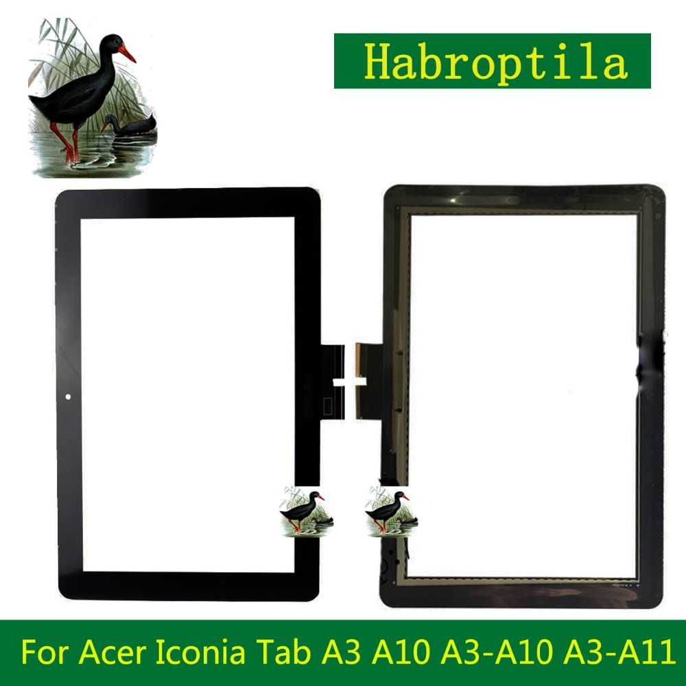 Touch Screen for Acer Iconia Tab A3-A10 A3-A11 10.1 Black Front Tablet Touch Panel Glass Replacement parts 10 1 for acer iconia tab 10 a3 a40 tablet pc touch screen digitizer glass panel with black frame replacement parts