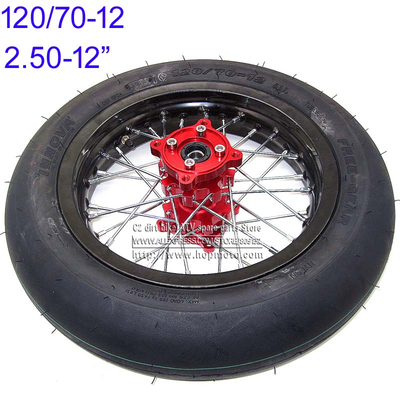 120/70-12 INNOVA tires Rear Wheels 2.50-12inch Rims CNC Red Hub Black Wheels  32 spoke Dirt Pit Bike Racing motorcycle supermoto simple minds simple minds once upon a time 5 cd dvd
