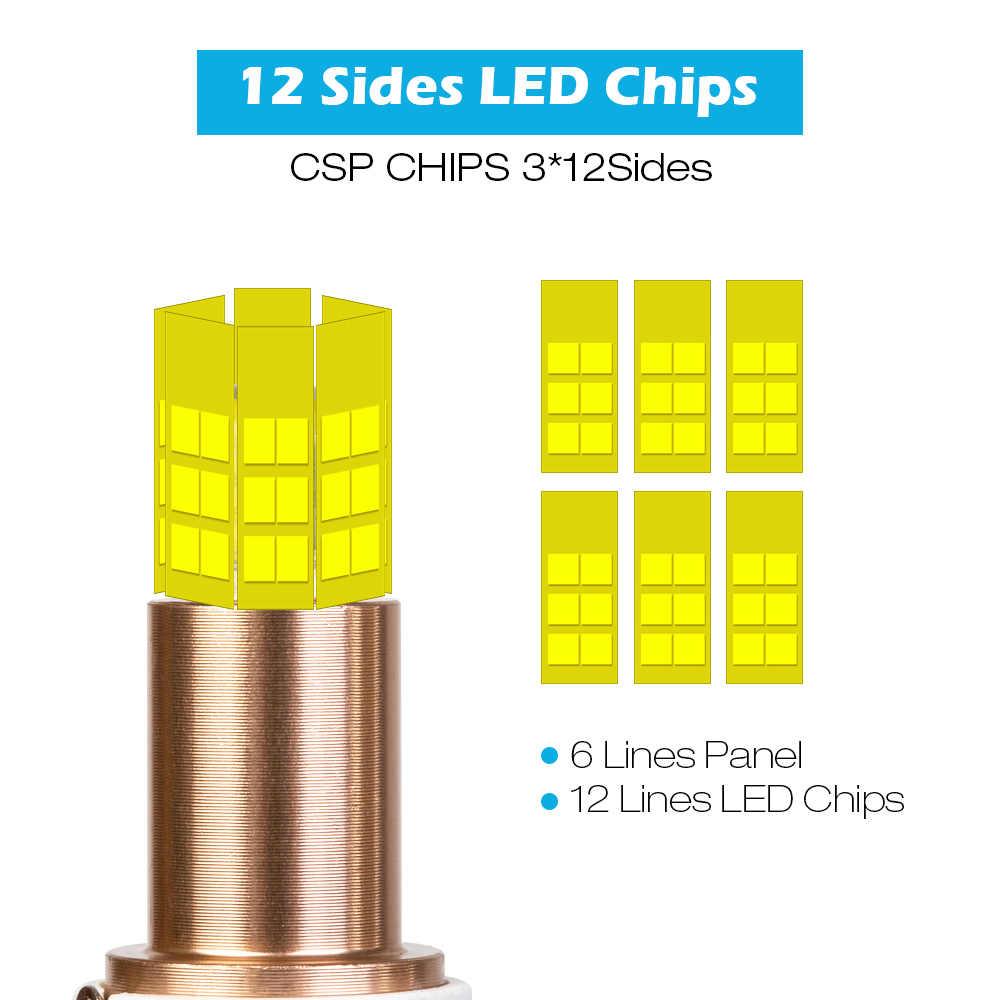 12 Сторон H11 Противотуманные фары h7 светодиодный фар 3D 360 градусов со светодиодными кристаллами для 15000LM HB3 9005 HB4 H3 5202 880 881 H27 светодиодный H1 9012 Auto Lamps