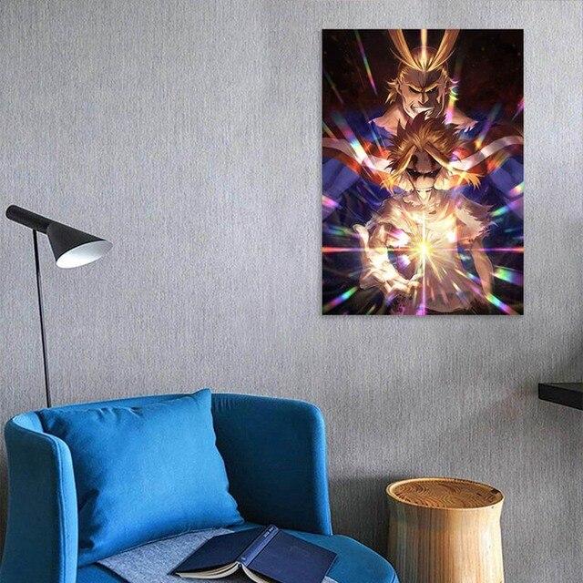 Leinwand Moderne Pictures Home Dekoration 1 Stücke Meine Hero College Gemälde Wand Kunst Druck Anime Poster Modulare Wohnzimmer Gerahmte