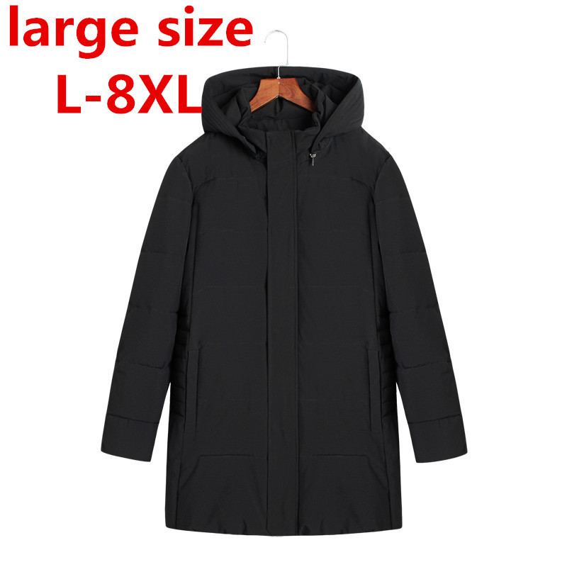 large size 8XL 7XL Winter Jacket Men Parkas Male Coat And Casual brand Cotton Padded Hooded Overcoat Warm Long Jackets For Man winter jacket women nice new style parkas overcoat brand fashion hooded big size cotton padded warm long jackets and coats s2215