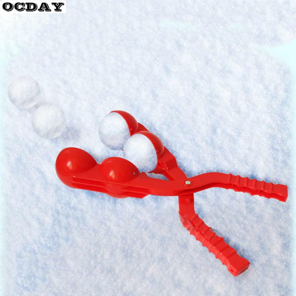 1PC คู่ฤดูหนาวกลางแจ้ง Snow Ball Maker Snowball Clamp คลิป Scoop ต่อสู้ตลกทรายแม่พิมพ์เครื่องมือกีฬากลางแจ้งของเล่นสำหรับเด็ก