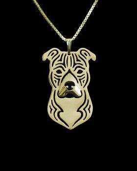 Necklace fashion pit bull pendant Silver gold   colors