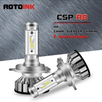 AOTOINK Auto LED H4 Car Headlight 6500K 60W 11000LM 9003 Led Car Bulbs All in One HB2 Led Fog Lamp Cooling Fan Oversea Shipping