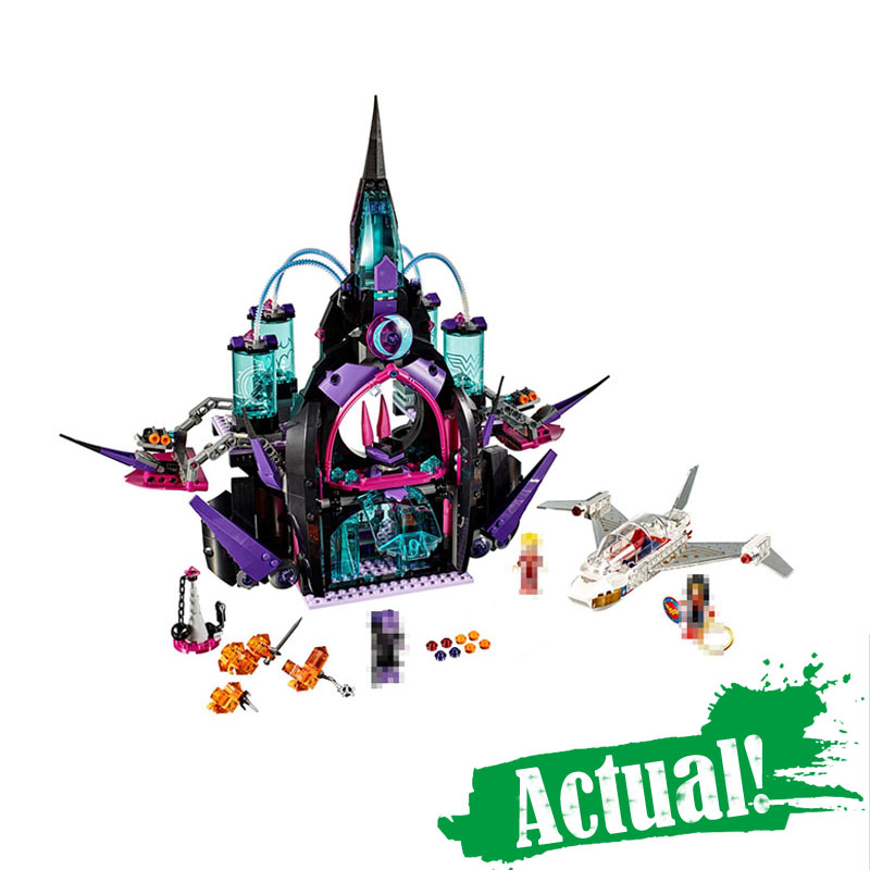LEPIN 29010 Elves Eclipso Dark Palace Princess Castle Building Blocks Bricks Toys For Girls Compatible with legoINGly 41239 lepin 29010 1093pcs genuine superhero series the eclipso dark palace set educational building blocks bricks toys friends castle page 3