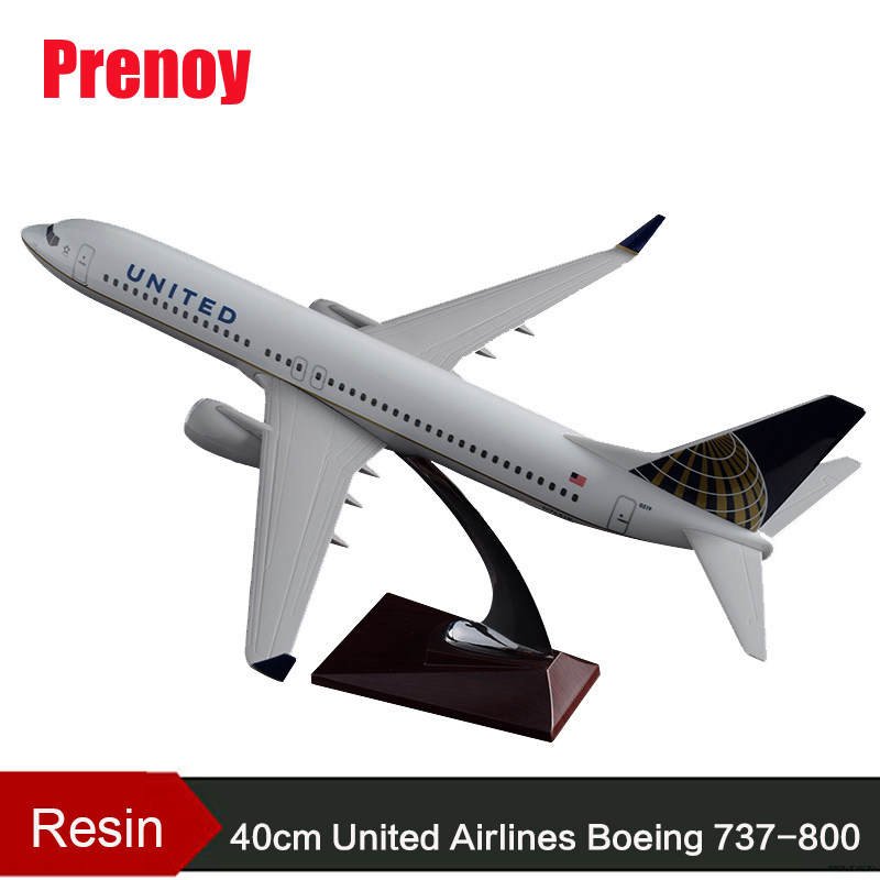 40cm Resin B737-800 United Airlines Aircraft Model United States Boeing 737-800 US America United Airplane Airbus Airways Model tochung binoculars 10x50 professional hunting telescope military zoom binoculars high powerful waterproof binoculars for sale