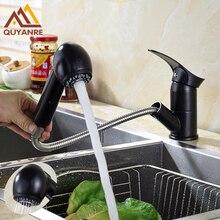 Бесплатная доставка черный цвет кухня смеситель пара и спрей вытащить носиком Горячая amd холодной водопроводной воды