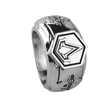 Retro Big Rings For Men Assassins Creed Metal Masonic Rings Stainless Steel Vintage Ring New Fashion Jewelry Male Accessories