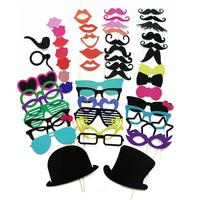 51PCS Set Photo Booth Bachelorette Party Wedding Decoration Moustache Lips Glasses On A Stick Photo Booth