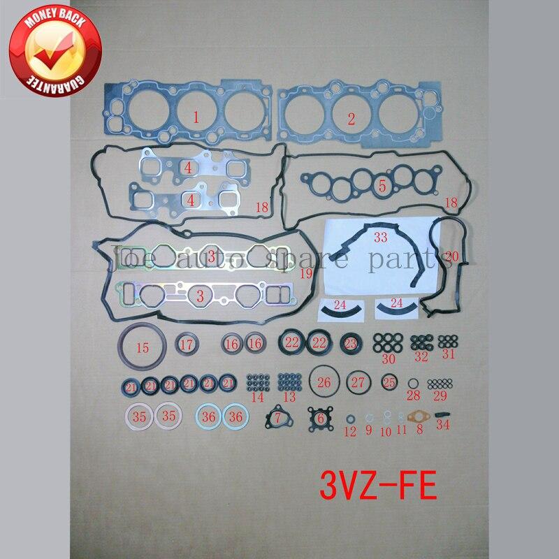 3vz 3vzfe Двигатели для автомобиля полный комплект прокладок Набор для Toyota Camry/Lexus ES 300 2958cc 3.0l 1991- 2001 04111-62050 50137100