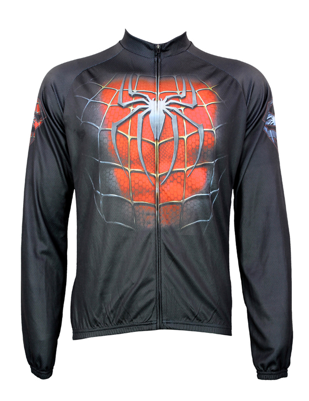 New Fashion Black/red Spider Alien Sportswear Mens Long Sleeve Cycling Jersey Cycling Clothing Bike Shirt Size 2xs To 6xl