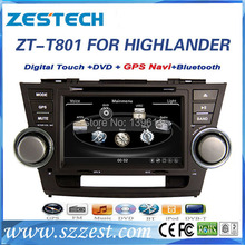 ZESTECH double din Car Dvd player for Toyota HIGHLANDER Car Dvd player with radio, tv, gps navigation+factory