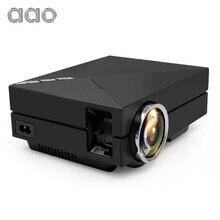 AAO GM60 Actualización GM60A Mini Proyector Incorporado Con Cable de Sincronización de Pantalla LED LCD Proyector de Cine En Casa de Vídeo HD 1080 P HDMI VGA USB AC3
