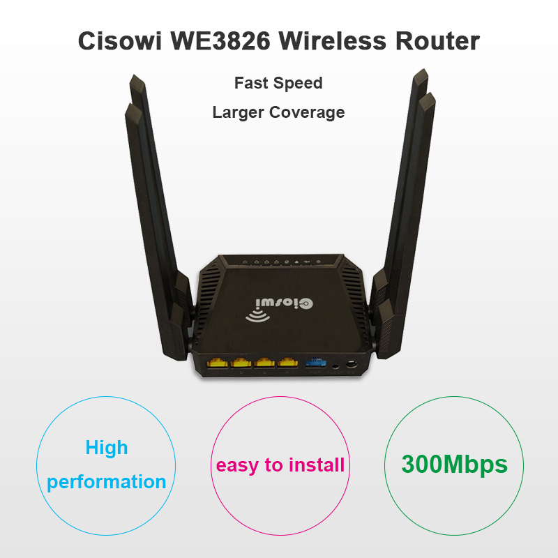 300Mbps wifi router support zyxel and Keenetic Omni II 3g usb modem <font><b>8372</b></font> /e3372 MT7620 chip OpenWrt router with usb wfi antenna image