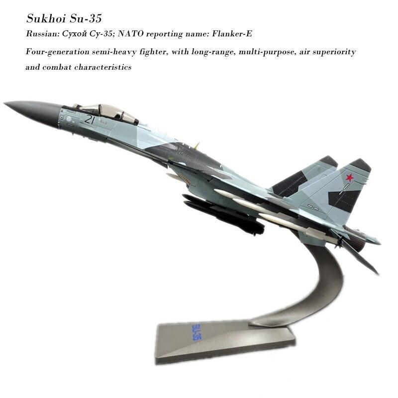 Modèle d'avion militaire en métal moulé sous pression pour la Collection terpacket 1/72 echelle Sukhoi Su-35 flanker-e/Super Flanker Fighter