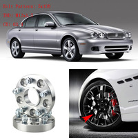 Jinke 4pcs 1 Wheel Spacers Adapters 5 Lug 5x4.3/5x108 12x1.5 Studs For Jaguar S Type 1999 2008/XF 2008+/X Type 2006+