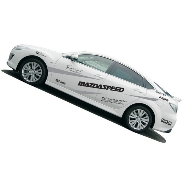 Car whole body car styling speed sport car sticker racing car stickers and decals for mazda