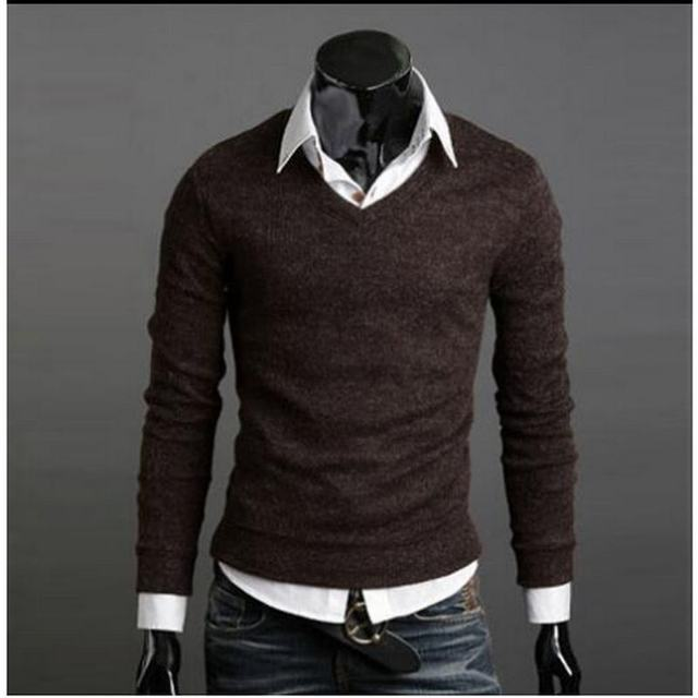 Christmas Jumper Casual Knitted V Neck Pullover Sweaters  1