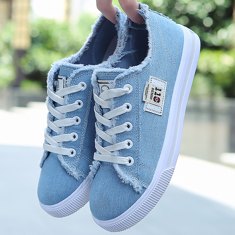 Canvas Flats Shoes Women Casual Flats Lace-up Shoes Fashion Female Spring/Autumn Flats Shoes Solid White Shoes
